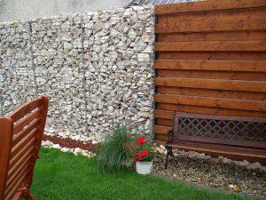Gabion kőfal