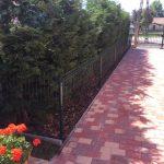 táblás kerítés a kertekbe - Görbeháza