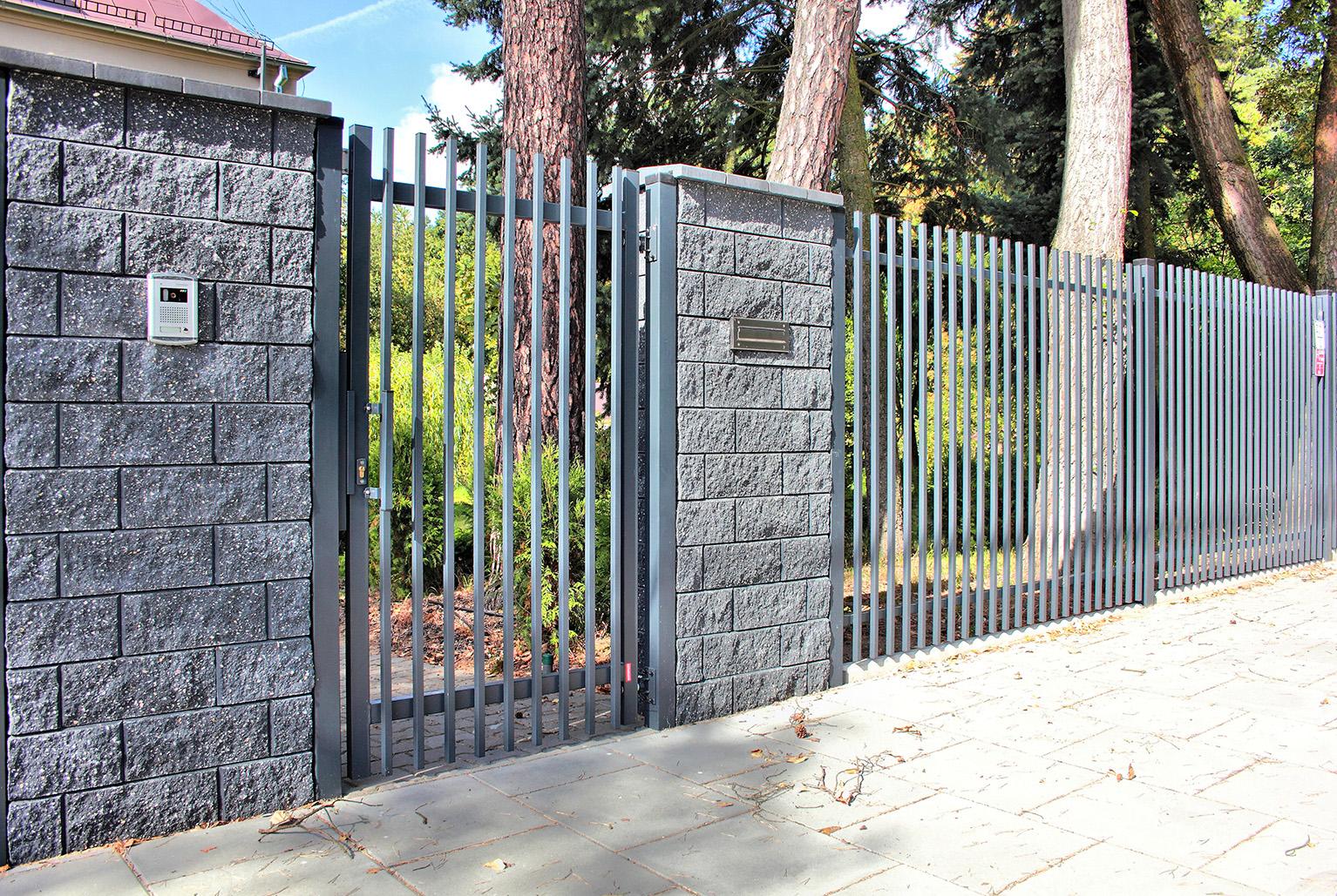 Modern panel kerítés